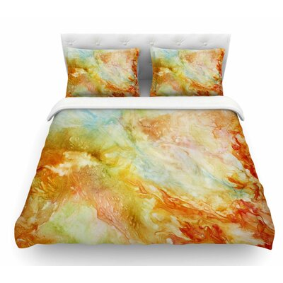 Autumn Breeze by Rosie Brown Featherweight Duvet Cover Size: Queen