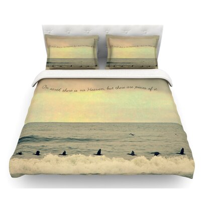 Pieces of Heaven by Robin Dickinson Beach Featherweight Duvet Cover Size: Twin