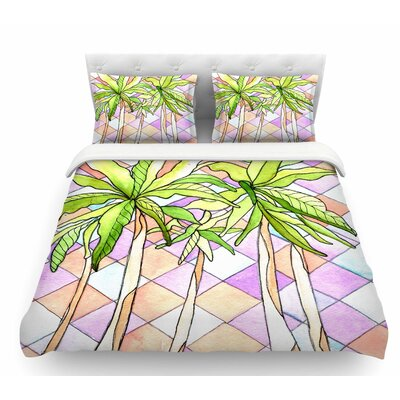 Geometric Tropic by Rosie Brown Featherweight Duvet Cover Size: King