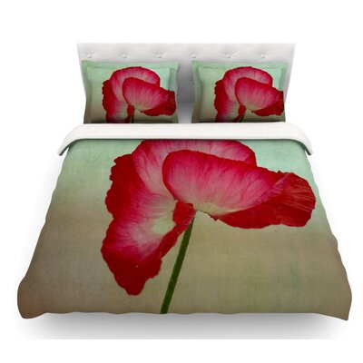 La Te Da by Robin Dickinson Poppies Featherweight Duvet Cover Size: King
