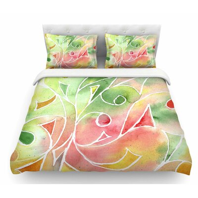 Gift Wrap by Rosie Brown Pastel Featherweight Duvet Cover Size: Queen