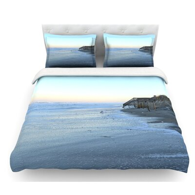 Sand Surf Sunshine by Robin Dickinson Beach Featherweight Duvet Cover Size: Twin