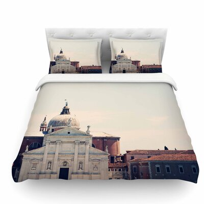 Venice 7 by Sylvia Coomes Featherweight Duvet Cover Size: King