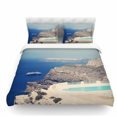 Greek Paradise by Sylvia Coomes Featherweight Duvet Cover Size: Queen