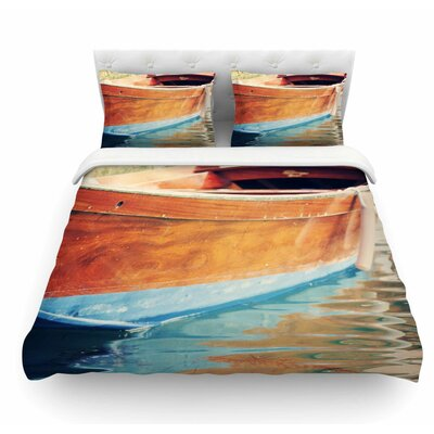 Venetian Boat by Sylvia Coomes Featherweight Duvet Cover Size: Queen