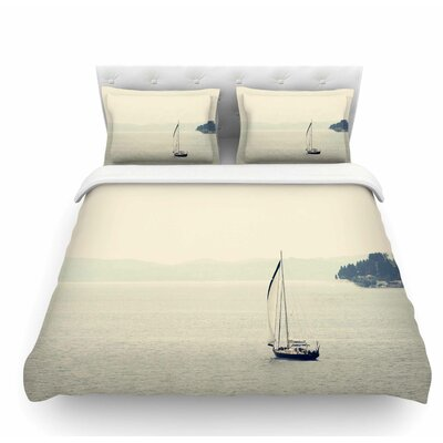 Hazy Sea by Sylvia Coomes Travel Featherweight Duvet Cover Size: Twin