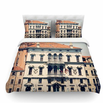 Venice 6 by Sylvia Coomes Travel Coastal Featherweight Duvet Cover Size: Twin