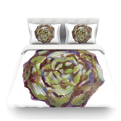 Artichoke by Theresa Giolzetti Featherweight Duvet Cover Size: Queen