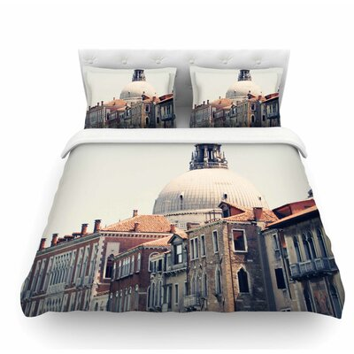 Venice 5 by Sylvia Coomes Travel Vintage Featherweight Duvet Cover Size: Queen