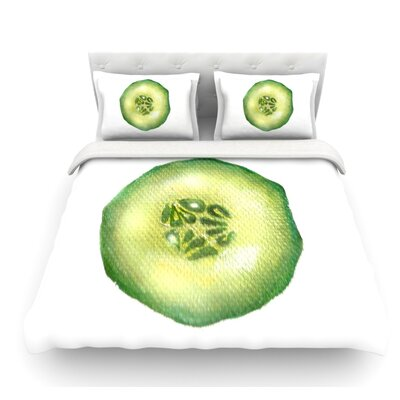 Cucumber by Theresa Giolzetti Featherweight Duvet Cover Size: Twin
