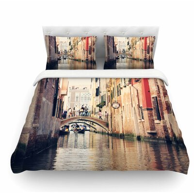 Venice 10 by Sylvia Coomes Featherweight Duvet Cover Size: King
