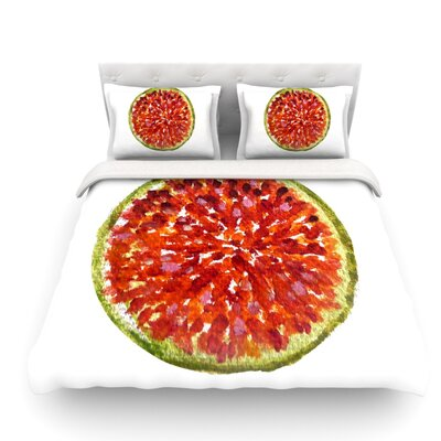 Passion Fruit by Theresa Giolzetti Featherweight Duvet Cover Size: Twin