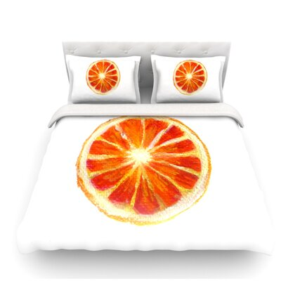 Grapefruit by Theresa Giolzetti Featherweight Duvet Cover Size: Queen