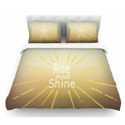 Rise and Shine by Suzanne Carter Featherweight Duvet Cover Size: Queen