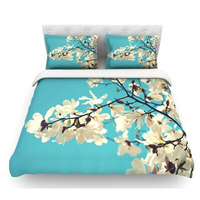 White Magnolias by Sylvia Cook Featherweight Duvet Cover Size: Twin