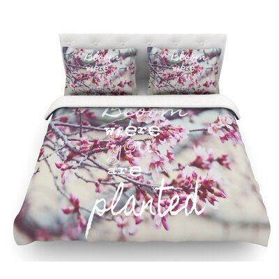 Bloom Pink by Suzanne Carter Featherweight Duvet Cover Size: Twin