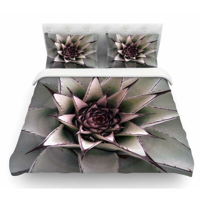 Succulent by Suzanne Carter Featherweight Duvet Cover Size: King