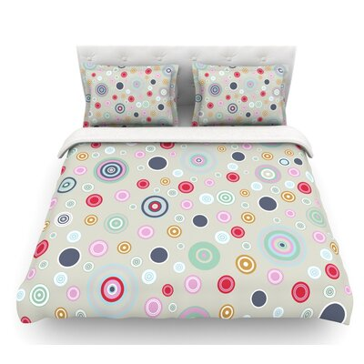 Circle Circle I by Suzanne Carter Featherweight Duvet Cover Size: Twin