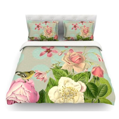Vintage Garden Cush by Suzanne Carter Flowers Featherweight Duvet Cover Size: Queen