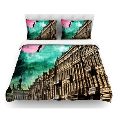 Moonlight Stroll by Suzanne Carter Surreal Featherweight Duvet Cover Size: Queen