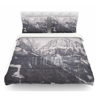 Love You to the Moon by Suzanne Carter Featherweight Duvet Cover Size: Twin