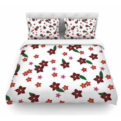 Holiday Floral by NL Designs Featherweight Duvet Cover Size: Queen