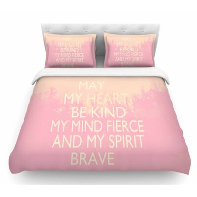 Kind by Suzanne Carter Featherweight Duvet Cover Size: King, Color: White/Pink