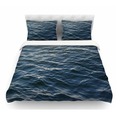 Deep Water by Suzanne Carter Nautical Featherweight Duvet Cover Size: Queen