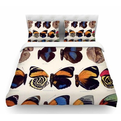 Vintage Wings by Suzanne Carter Nature Featherweight Duvet Cover Size: King