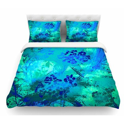 Wildflowers by Nina May Featherweight Duvet Cover Size: King, Color: Teal/Blue
