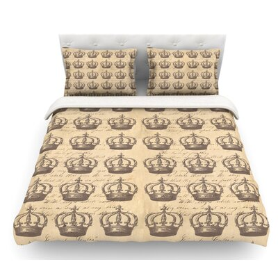 Crowns by Suzanne Carter Featherweight Duvet Cover Size: Queen