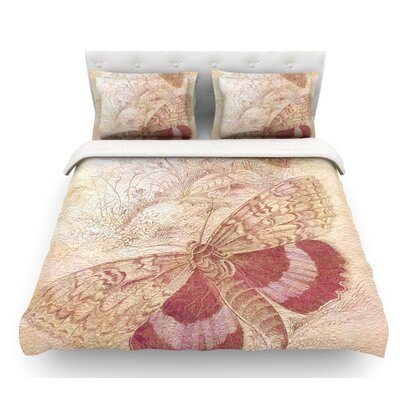 Vintage Garden by Suzanne Carter Butterfly Moth Featherweight Duvet Cover Size: Queen