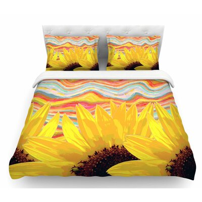 Sunflower Dreaming by Suzanne Carter Featherweight Duvet Cover Size: Queen