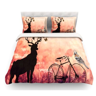 Vintage Forest by Suzanne Carter Featherweight Duvet Cover Size: Queen