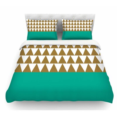 Geo by Suzanne Carter Featherweight Duvet Cover Size: Twin