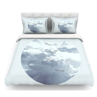 Feathers by Suzanne Carter Featherweight Duvet Cover Size: Queen