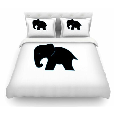 Cute Elephant by NL Designs Animals Featherweight Duvet Cover Size: Queen