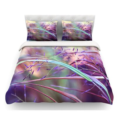Pretty Grasses by Sylvia Cook Featherweight Duvet Cover Size: Queen