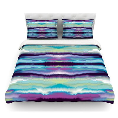 Artik Stripe by Nina May Featherweight Duvet Cover Size: Queen