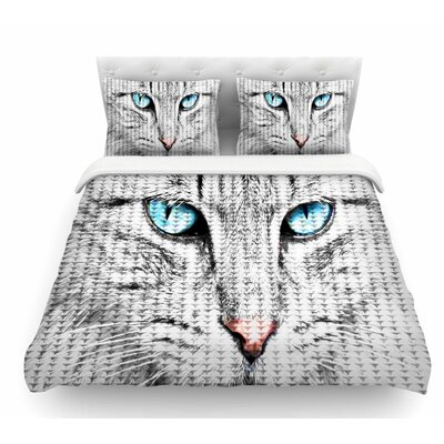 Cat by Suzanne Carter Digital Featherweight Duvet Cover Size: King