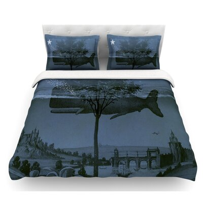 Whale Watch by Suzanne Carter Illustration Featherweight Duvet Cover Size: King