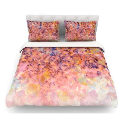 Blushed Geometric by Nikki Strange Featherweight Duvet Cover Size: Queen