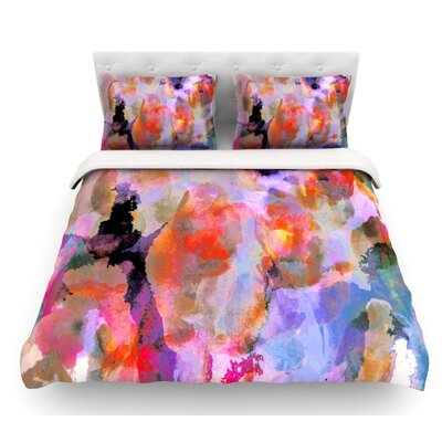 Painterly Blush by Nikki Strange Featherweight Duvet Cover Size: King