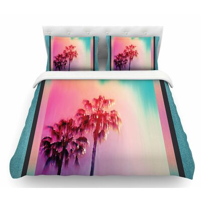 La Rainbow by Nina May Featherweight Duvet Cover Size: Queen