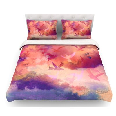 Souffle Sky by Nikki Strange Featherweight Duvet Cover Size: King