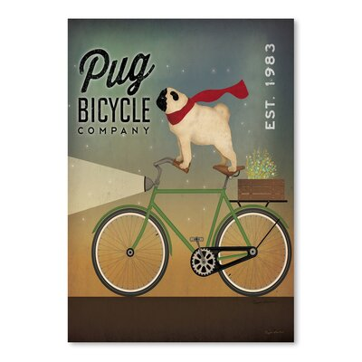 "Pug on A Bike Vintage Adverstisement Size: 16"" H x 12"" W USSC9708 33604557"