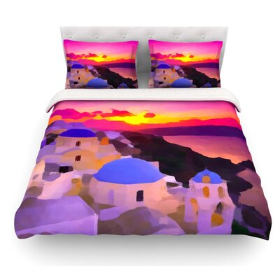 My Konos Sunset Featherweight Duvet Cover Size: King