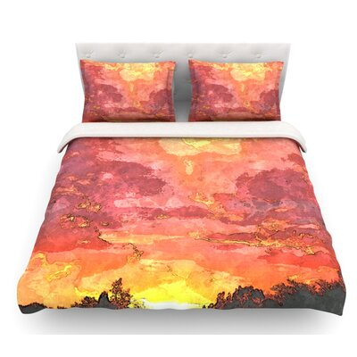 Horizon by Oriana Cordero Sky Featherweight Duvet Cover Size: Queen
