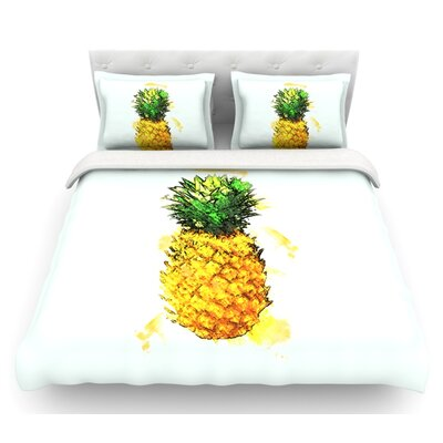 Slice of Summer by Oriana Cordero Featherweight Duvet Cover Size: Queen