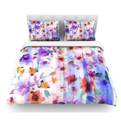 Floral Ombre by Nikki Strange Pastel Featherweight Duvet Cover Size: Queen